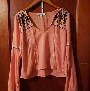 Abercrombie & Fitch Bell-Sleeve Peasant Top